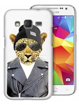 Coque rigide Moxie transparente leopard Rock pour Samsung Galaxy Trend Lite