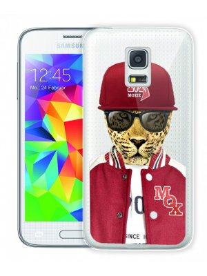 Moxie coque crystal rigide léopard baseball pour Samsung Galaxy S5 mini