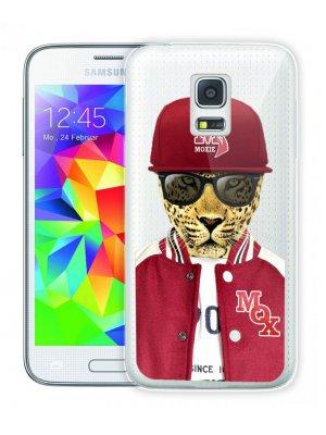 Moxie coque crystal rigide léopard baseball pour Samsung Galaxy S5