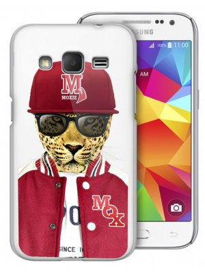 Coque rigide Moxie transparente leopard baseball pour Samsung Galaxy Trend Lite