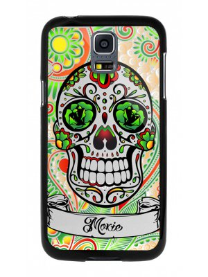 Moxie coque rigide noire crane mexicain vert pour Samsung Galaxy S5 mini