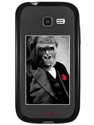 Coque rigide Moxie noir Gorille fleurs rouge pour Samsung Galaxy Trend Lite