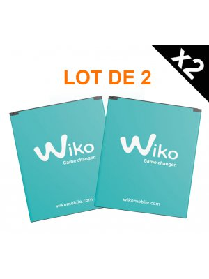 Lot de 2 batteries Wiko d'origine pour Wiko Lenny