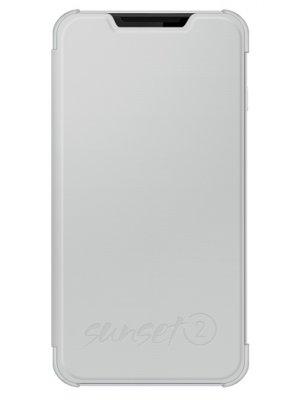 Wiko Etui Cover Back Folio Blanc Wiko Sunset 2**