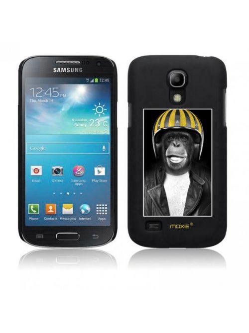 Moxie coque rigide noire singe casque jaune pour Samsung Galaxy S4