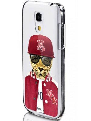 Moxie coque crystal rigide léopard baseball pour Samsung Galaxy S4 mini