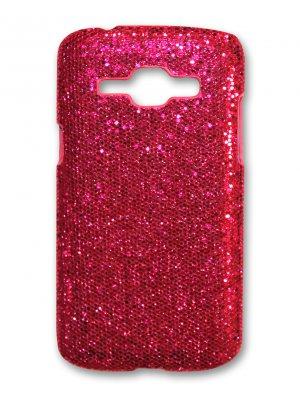 Coque rigide paillettes roses pour Samsung Galaxy J1