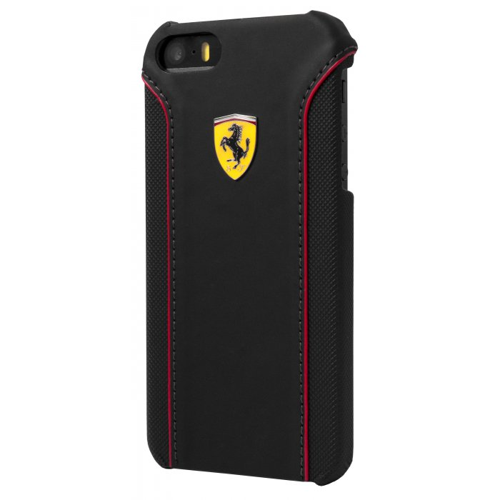 ferrari coque fiorano pu cuir noir apple iphone 5 5s