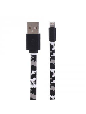 Câble Lightning noir camouflage 1 mètre