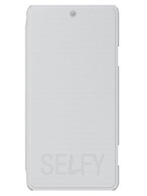 Wiko Etui Folio Blanc Wiko Selfy**