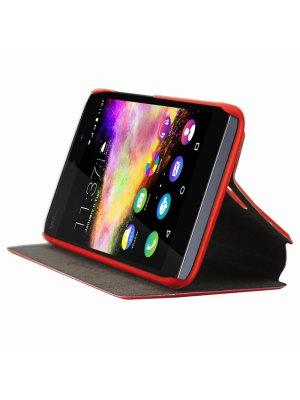 Etui folio avec stand intégré rouge pour Wiko Rainbow Up
