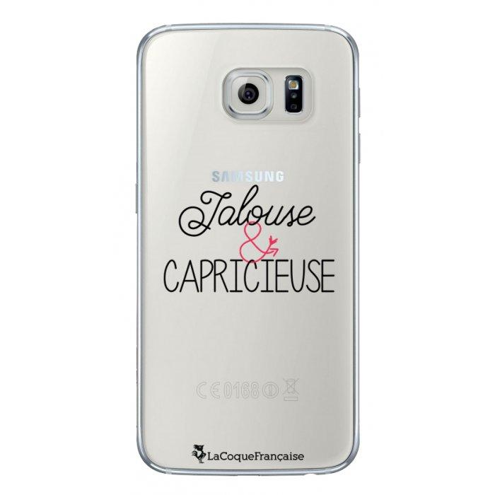Coque Samsung Galaxy S6 rigide transparente Jalouse et Capricieuse Dessin La Coque Francaise - Coquediscount