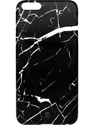 Coque semi rigide noir effet marbre Pantone pour Apple iPhone 6/6S Plus