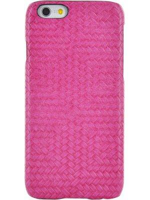 Coque rigide rose en cuir tressé pour iPhone 6 et iPhone 6S