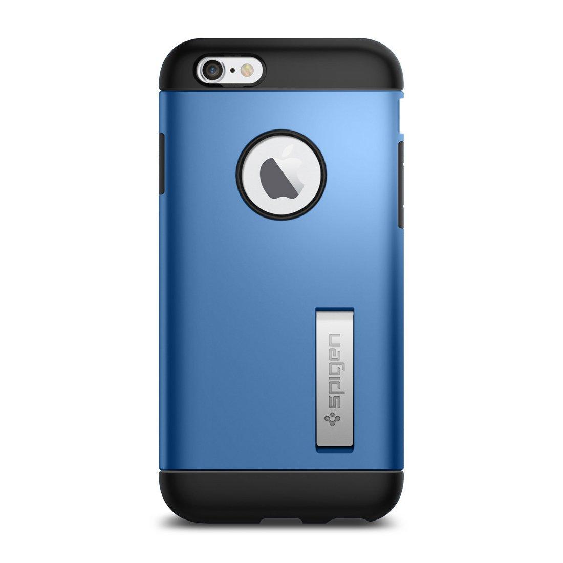 spigen coque slim armor bleue electrique pour apple iphone 6 6s