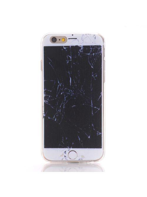 Coque souple trompe l'oeil effet vitre iPhone cassée pour Apple iPhone 6 Plus