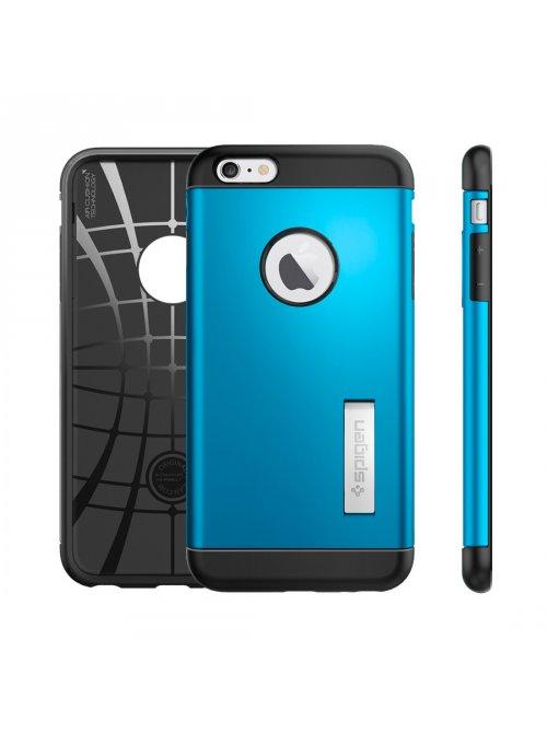 spigen coque slim armor bleue electrique pour apple iphone 6 6s plus
