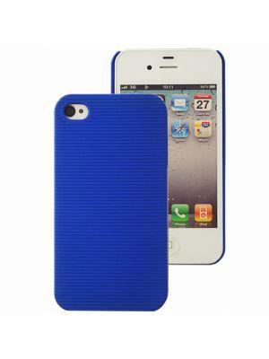 Mocca coque rayée bleue pour iPhone 4 / 4S