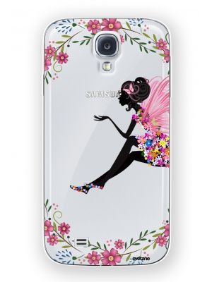 Coque crystal Fée Fleurale pour Samsung Galaxy S4