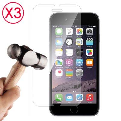 """Lot de 3 Vitres de protection anti-chocs en verre trempé pour iPhone 6 4.7"""""""