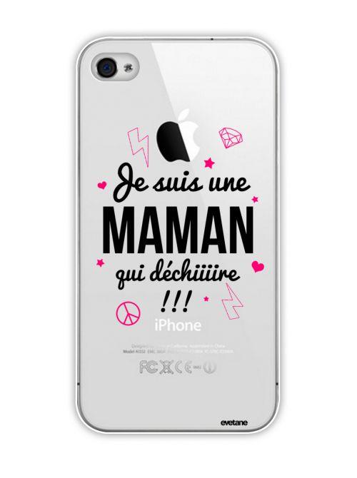 Coque transparente Maman qui Déchire pour Apple iPhone 4/4S - Coquediscount
