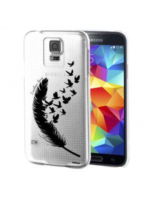 Coque Galaxy S5 Transparent et noir