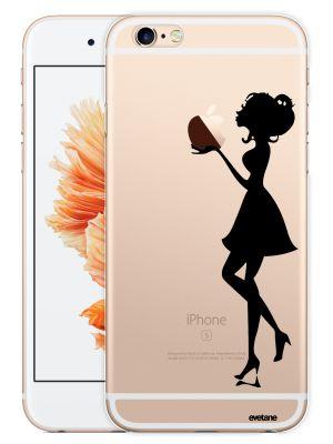 Coque transparente Silhouette femme pour iPhone 6