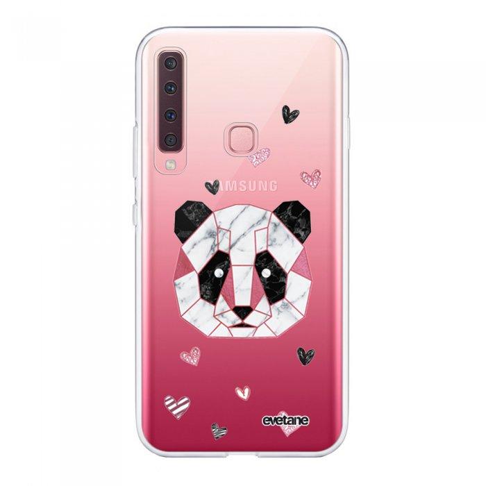 Coque Samsung Galaxy A9 2018 360 intégrale transparente Panda Géométrique Rose Ecriture Tendance Design Evetane