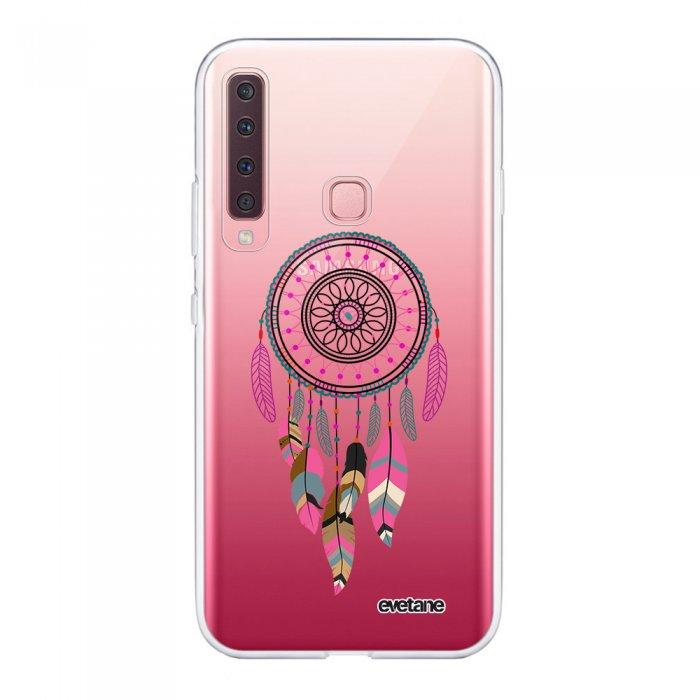 Coque Samsung Galaxy A9 2018 souple transparente Attrape Rêve Rose Fushia Motif Ecriture Tendance Evetane