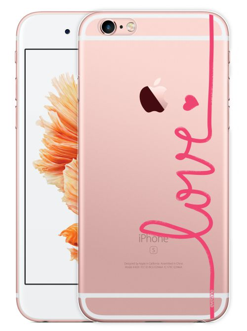 EMMY CASE BY EVETANE Coque Crystal Love rose pour iPhone 6 Plus