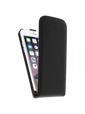 Etui de protection effet cuir iPhone 6 - Noir