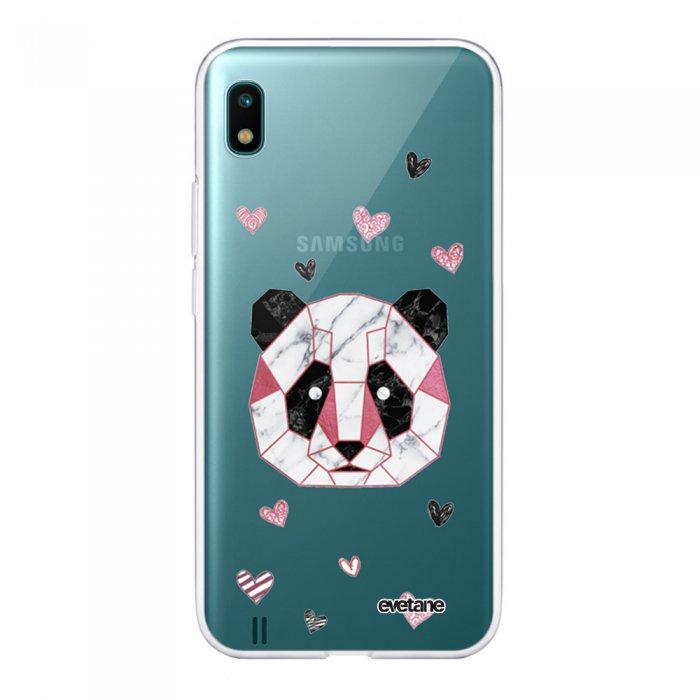 Coque Samsung Galaxy A10 360 intégrale transparente Panda Géométrique Rose Tendance Evetane - Coquediscount