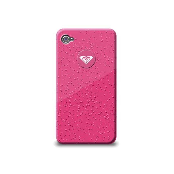 coque arriere de protection roxy rose effet gouttes d eau iphone 4