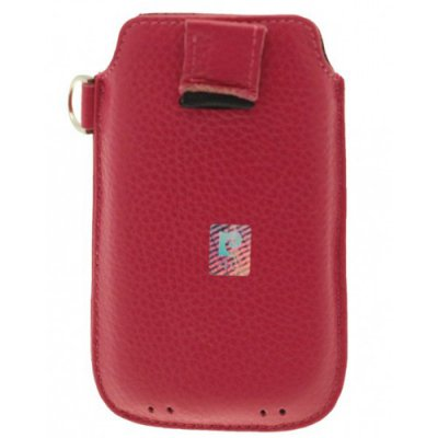 Pierre Cardin Fourreau cuir fushia a hublot iPhone 4 4S iPhone 3g 3gs