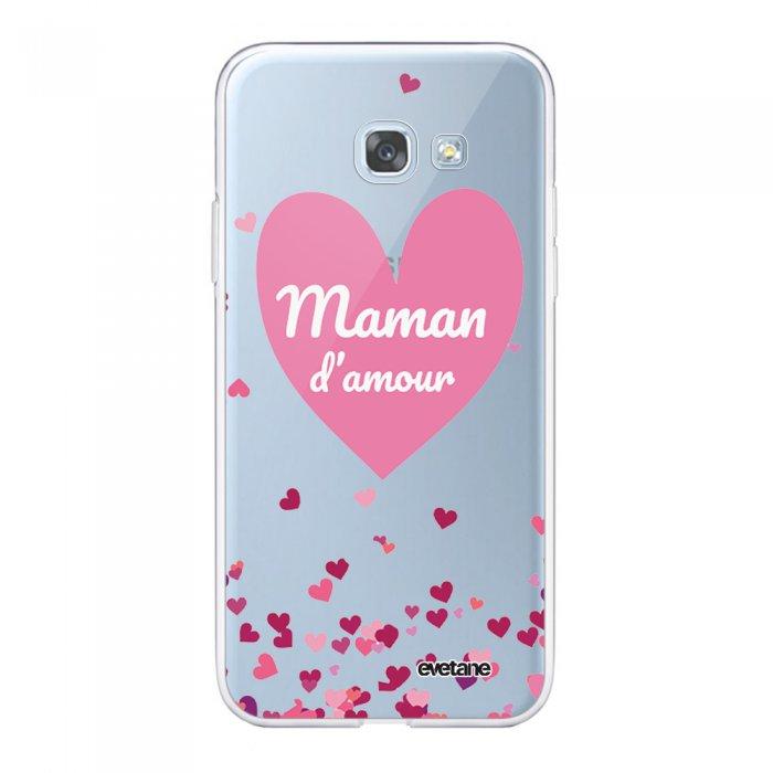 Coque Samsung Galaxy S8 360 intégrale transparente Maman damour Ecriture Tendance Design Evetane