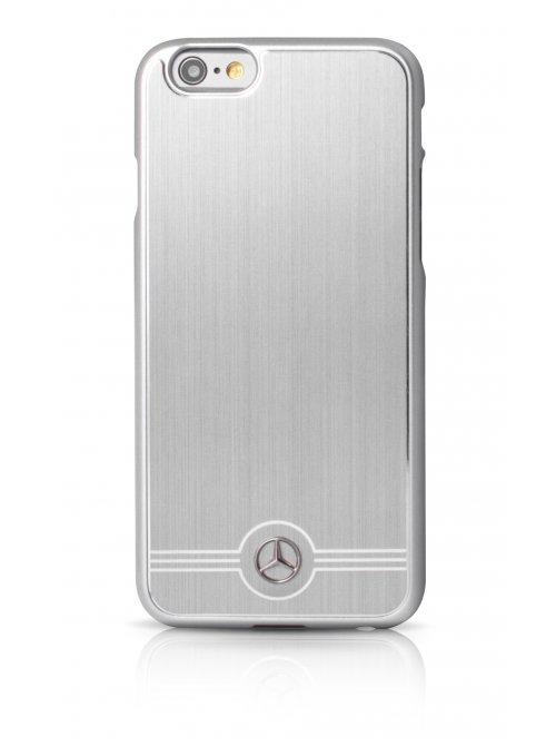 mercedes coque de protection en aluminum gris pour iphone 6 plus et iphone 6s plus