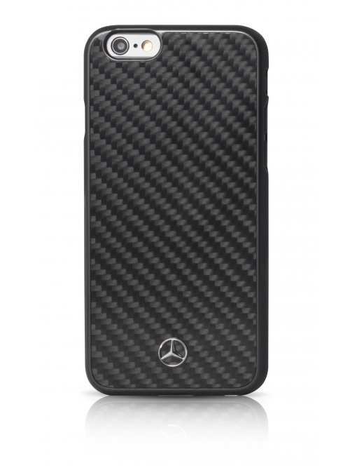 mercedes coque de protection en vraie fibre de carbone pour iphone 6 plus et iphone 6s plus