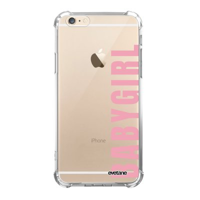 Coque iPhone 6/6S anti-choc souple angles renforcés transparente Baby Girl Evetane.