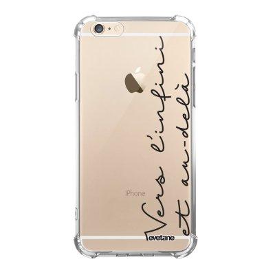 Coque iPhone 6/6S anti-choc souple angles renforcés transparente Vers l'infini et l'au delà Evetane.