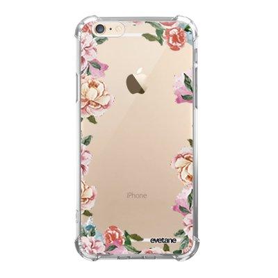 Coque iPhone 6 Plus / 6S Plus anti-choc souple avec angles renforcés transparente Flowers Evetane