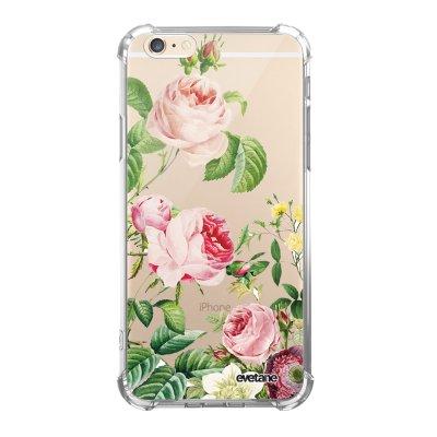 Coque iPhone 6 Plus / 6S Plus anti-choc souple avec angles renforcés transparente Motifs Roses Evetane