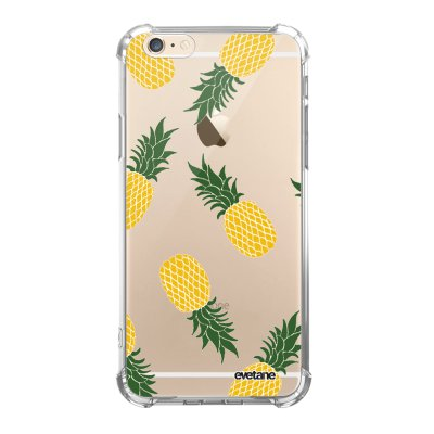 Coque iPhone 6 Plus / 6S Plus anti-choc souple angles renforcés transparente Ananas Motifs Evetane.