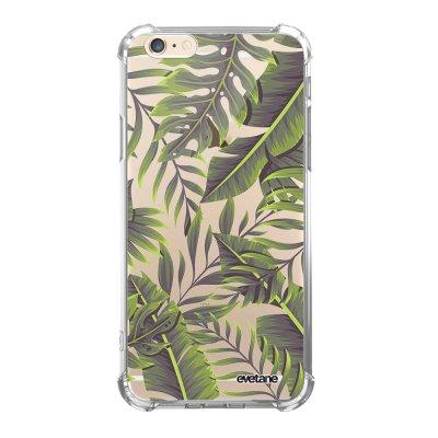 Coque iPhone 6 Plus / 6S Plus anti-choc souple avec angles renforcés transparente Feuilles Exotiques Evetane