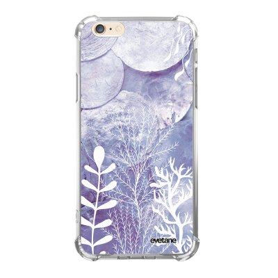 Coque iPhone 6 Plus / 6S Plus anti-choc souple avec angles renforcés transparente Nacre et Algues Evetane