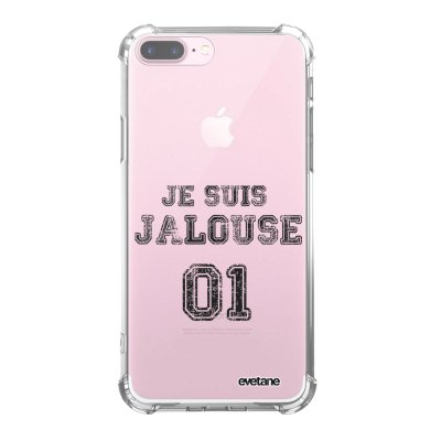 Coque iPhone 7 Plus / 8 Plus anti-choc souple angles renforcés transparente Jalouse 01 Evetane.