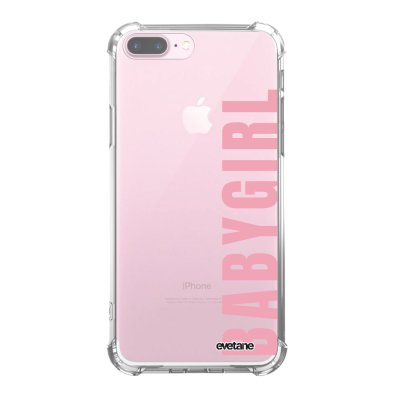Coque iPhone 7 Plus / 8 Plus anti-choc souple angles renforcés transparente Baby Girl Evetane.