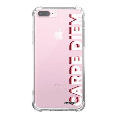 Coque iPhone 7 Plus / 8 Plus anti-choc souple avec angles renforcés transparente Carpe Diem New Tendance Evetane...