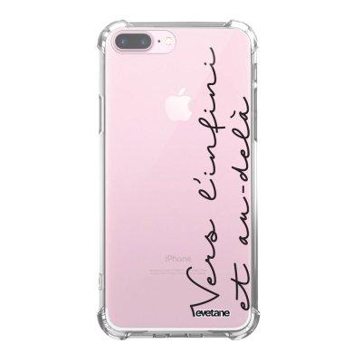 Coque iPhone 7 Plus / 8 Plus anti-choc souple angles renforcés transparente Vers l'infini et l'au delà Evetane.