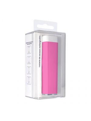 Batterie de secours rechargeable 2200 mAh - Rose