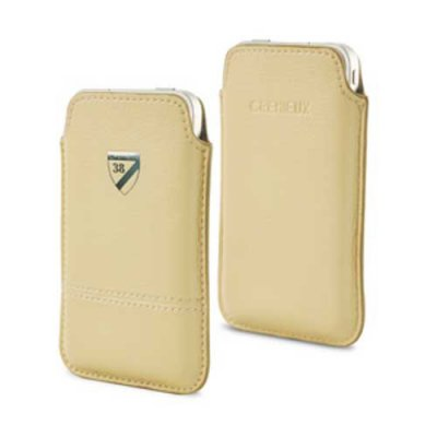 Etui vertical Crémieux Beige polyuréthane taille M pour iPhone 3g3gs iPhone 4 Samsung Galaxy Ace.